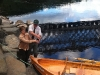 The New Dalguise Boat, Lady Alison, is christened by Mr & Mrs Skene.