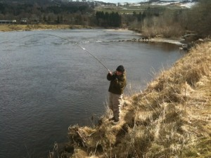 Angus Carruthers - Playing a 35lb Springer